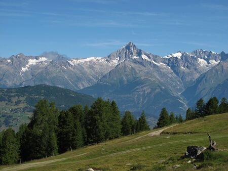valais: Idyllic Canton Valais Stock Photo