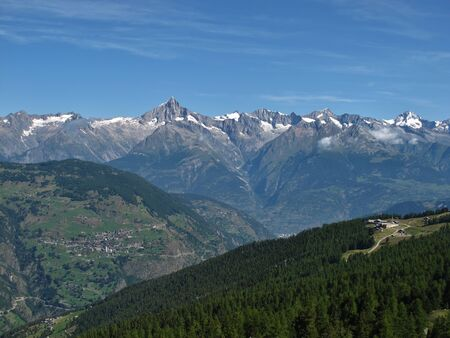 Summit Station Of The Cable Car Hannigalp, Valais Stock Photo - 15193655