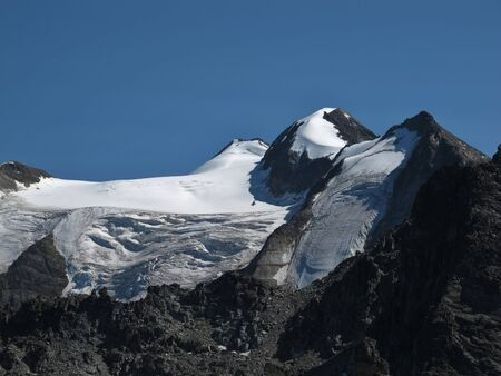 Glacier Of The Balfrin, High Mountain In The Alps  Stock Photo