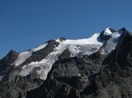 High Mountain In The Alps, Named Balfrin Stock Photo - 15193656