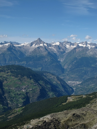 View Of Visp And The Bietschhorn, Valais Stock Photo - 15193657
