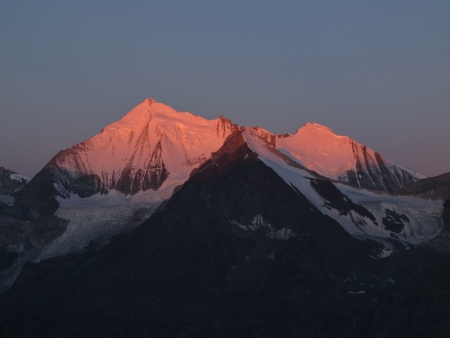 Weisshorn In Very The Early Morning