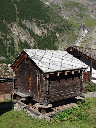 wallis: Old Shed In The Canton Valais