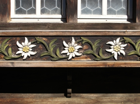 Carved Edelweiss Moulding