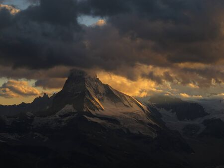 Sunbeams And Matterhorn photo