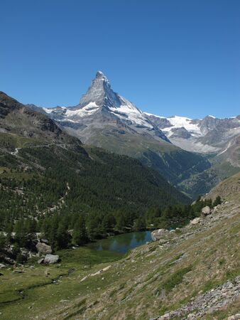 Matterhorn And Lake Moosjisee, Zermatt photo