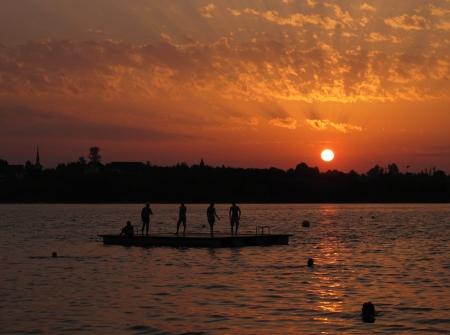 Sunset At Lake Pfaffikon