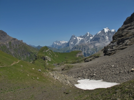 monch: Famous Mountains Eiger, Monch And Jungfrau