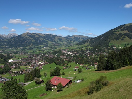 Beautiful Gstaad, Famous Holiday Resort Stock Photo - 15452344