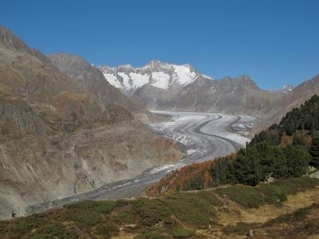 aletsch: Idyllic Aletsch Area Stock Photo