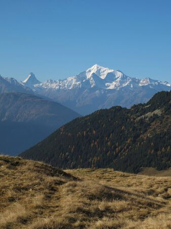 Peaks Of The Weisshorn And Matterhorn photo