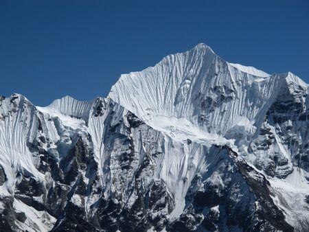 Majestic Mountain Peak In The Himalayas, Nepal Stock Photo