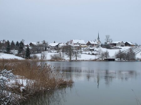 Beautiful Village Seegraeben In The Winter photo