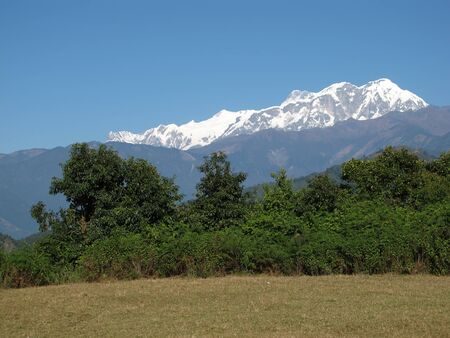 snow capped: Snow Capped Annapurna Range Stock Photo