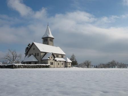 Church At Christmas Stock Photo