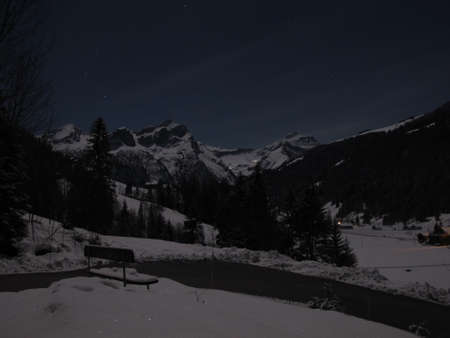 bernese oberland: Mountains In The Moonlight, Bernese Oberland
