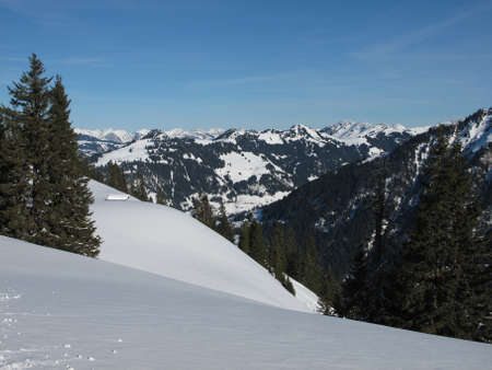gstaad: View From The Wispile, Gstaad Stock Photo
