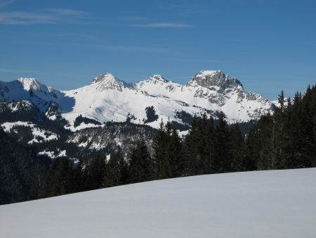 canton berne: Mountains In The Winter, Near Gstaad