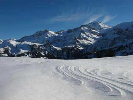 gstaad: Winter Landscape Near Gstaad