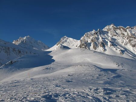 sargans: Winter Day In The Pizol Region, Mountain Peaks