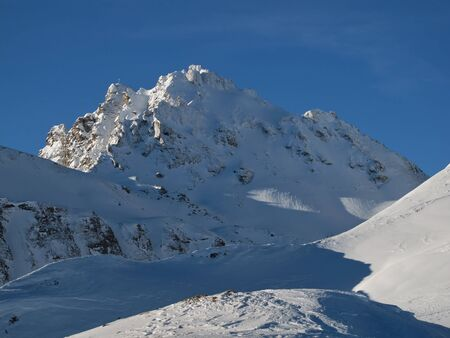 sargans: View Of Pizol, High Mountain In The Swiss Alps