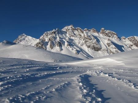 sargans: Beautiful Winter Scenery In The Pizol Region Stock Photo
