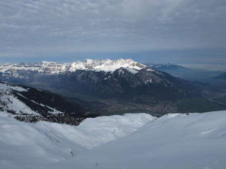 sargans: Sargans And Snow Capped Mountains