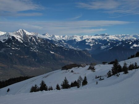 sargans: View From The Pizol Region Stock Photo