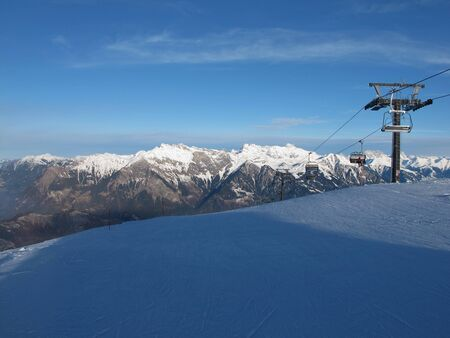 sargans: Chair Lift In The Pizol Region