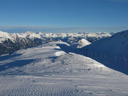 sargans: Ski Lift Of The Pizol Region, Beautiful Panorama