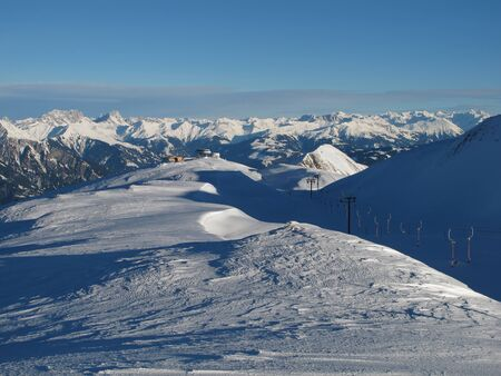 sargans: Beautiful View From The Pizol Skiing Region