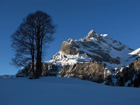 Beautiful winter scenery in Braunwald, Ortstock Stock Photo - 17604146