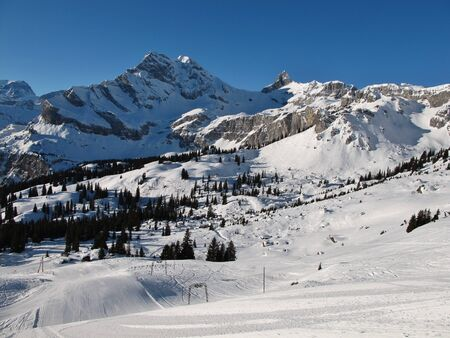 glarus: Ski slopes and mountains in Braunwald, Glarus Canton