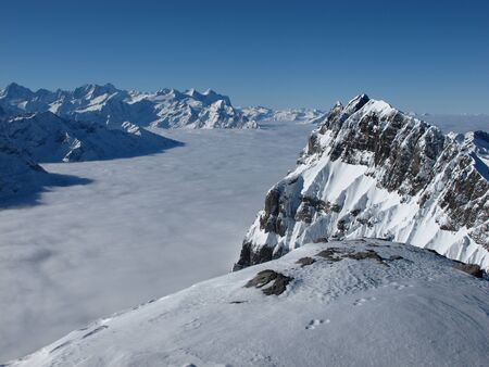 impressive: Impressive view from the Titlis, high mountains