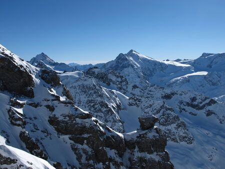 harsh: Harsh mountains in the winter Stock Photo