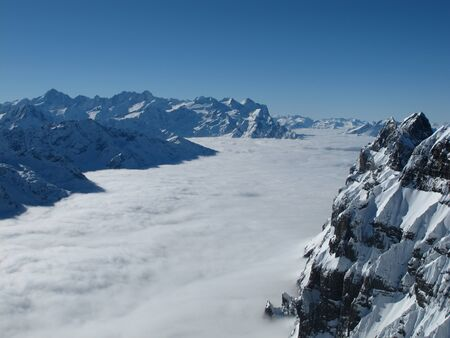 monch: Look from the Titlis towards Eiger Monch and Jungfrau