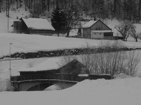 glarus: Winter morning in Glarus Canton