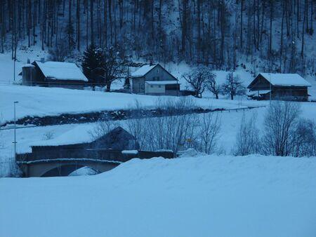 glarus: Winter scenery in Glarus Canton