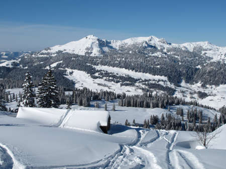 Scenery in the ski region Toggenburg photo