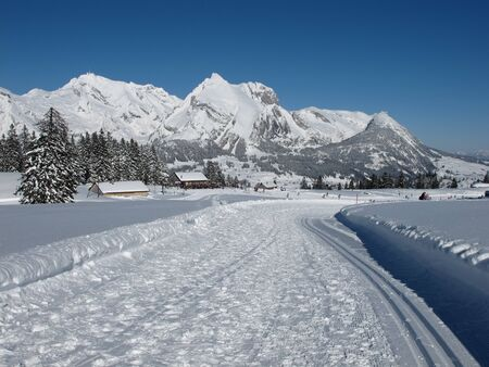 Beautiful winter day in Toggenburg, Mt  Saentis photo