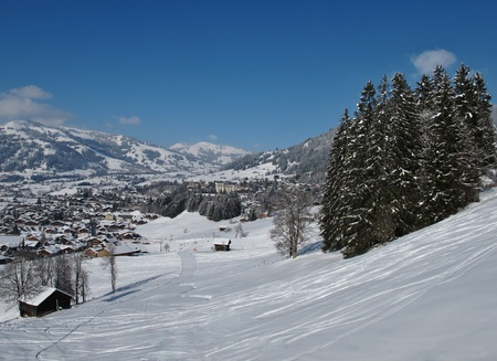 gstaad: Beautiful village Gstaad in the winter