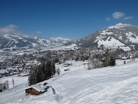 gstaad: View of Gstaad in the winter