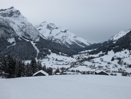 Gsteig bei Gstaad in winter Stock Photo - 18098430