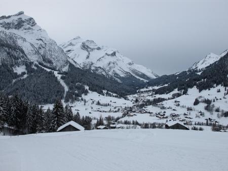 Gsteig bei Gstaad in winter Stock Photo - 18098430