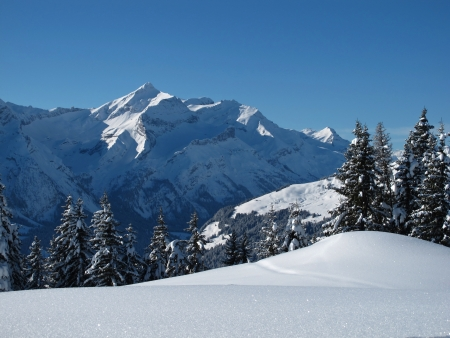 bernese oberland: Beautiful winter scenery in the Bernese Oberland