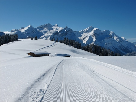 Mountains in the Bernese Oberland, winter photo