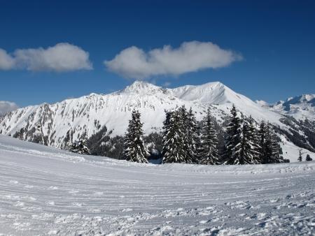canton berne: Lauenenhorn, mountain in the winter Stock Photo