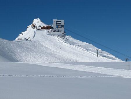 station ski: Summit station of the ski area Glacier De Diablerets