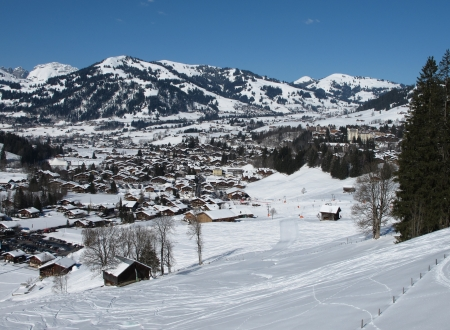 gstaad: Winter day in Gstaad