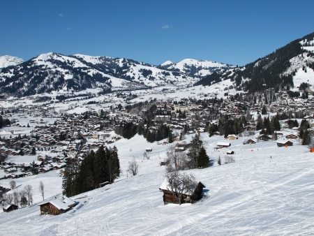 gstaad: Gstaad and ski slope